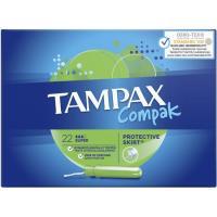 Tampón super TAMPAX Compak, caja 22 unid.