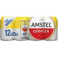 Cerveza AMSTEL Radler, pack lata 12x33 cl