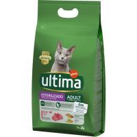 Alimento de buey gato esterilizado ULTIMA, saco 3 kg