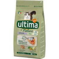 Alimento de salmón gato esterilizado ULTIMA Nature, saco 1,25 kg