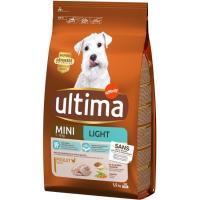 Alimento light para perro mini ULTIMA, saco 1,5 kg