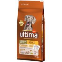 Alimento de pollo-arroz para perro adulto ULTIMA, saco 12 kg
