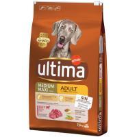 Aliemento de buey-arroz para perro adulto ULTIMA, saco 7,5 kg