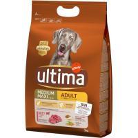 Alimento de buey-arroz para perro adulto ULTIMA, saco 3 kg