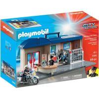 Comisaría Maletín, edad rec:+4 años PLAYMOBIL,incluye 3 figuras,1 moto y acces.