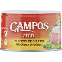 Atún en aceite de girasol CAMPOS, lata 400 g