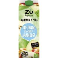 Néctar de manzana-pera exp. sin azúcar ZÜ PREMIUM, brik 2 litros