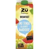 Néctar Breakfast exp. sin azúcar ZÜ PREMIUM, brik 2 litros