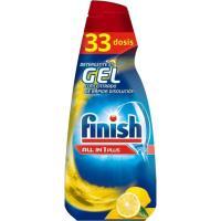 Lavavajillas máq. gel limón FINISH Todo en 1, botella 33 dosis