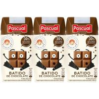 Batido de chocolate PASCUAL, pack 3x200 ml