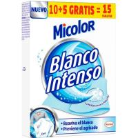 Toallitas blanco intenso MICOLOR, caja 10+5 uds.