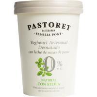 Yogur 0% con stevia PASTORET, tarrina 500 g