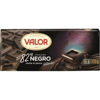 Chocolate negro 82% VALOR, tableta 170 g