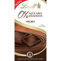 Chocolate negro sin azúcar LINDT, tableta 100 g
