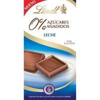Chocolate con leche sin azúcar LINDT, tableta 100 g