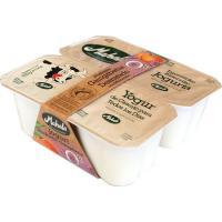 Yogur de melocotón desnatado MAHALA, pack 4x125 g
