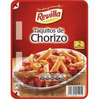 Taquitos de chorizo REVILLA, pack 2x75 g