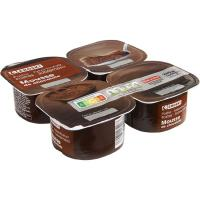 Mousse de chocolate EROSKI, pack 4x60 g