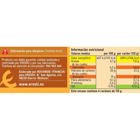 Copa de vainilla-nata-caramelo EROSKI, pack 4x115 g