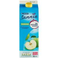 Zumo de manzana sin azúcar añadido EROSKI Sannia, brik 2 litros