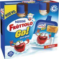 Petit de fresa NESTLÉ Frutollo Go, pack 4x80 g