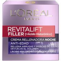 Crema de noche antiedad L`OREAL Revitalift Filler, pack 1 unid.
