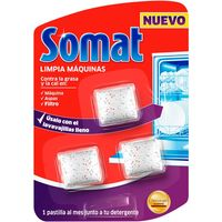 Limpia lavavajillas SOMAT, pack 3 dosis