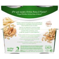 Activia de avena-nueces DANONE, pack 4x120 g