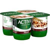 Activia de muesli DANONE, pack 4x120 g