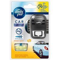 Ambientador coche anti tabaco AMBIPUR, aparato + recambio