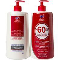 Body Lotion roja piel muy seca NEUTROGENA, pack 2x750 ml