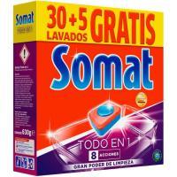 Lavavajillas máquina SOMAT Todo en 1, caja 30+5 dosis