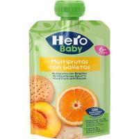 Bolsita multifrutas con galletas HERO Baby, doypack 100 g