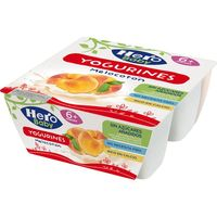 Yogurines de melocotón HERO Baby, pack 4x100 g