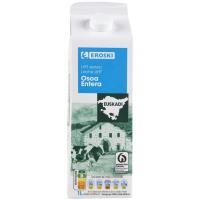 Leche entera del País Vasco EROSKI, brik 1 litro