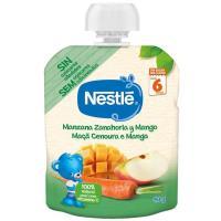 Bolsita de manzana-zanahoria-mango NESTLÉ Naturnes, doypack 90 g