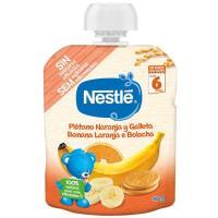 Bolsita de plátano-naranja-galleta NESTLÉ Naturnes, doypack 90 g