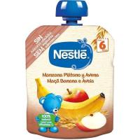 Bolsita de manzana-plátano-avena NESTLÉ Naturnes, doypack 90 g