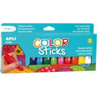 Témpera sólida Kids Color Stick 12 colores APLI
