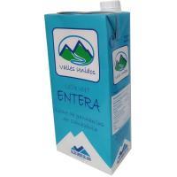 Leche entera VALLES UNIDOS, brik 1 litro