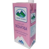 Leche desnatada VALLES UNIDOS, brik 1 litro