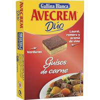 Caldo guisos de carne AVECREM, 8 pastillas, caja 112 g