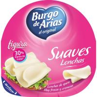Queso light BURGO de ARIAS, lonchas, bandeja 125 g