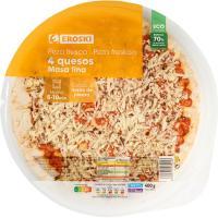 Pizza de 4 quesos EROSKI, 1 unid., 400 g