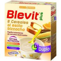 Papilla 8 cereales-bizcocho BLEVIT, caja 600 g