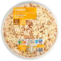 Pizza maxi de 4 quesos EROSKI, 1 unid., 580 g