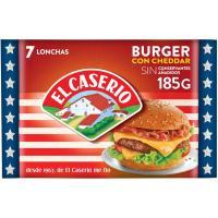 Queso burger EL CASERIO, lonchas, sobre 185 g