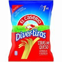 Divertiras de queso EL CASERÍO, bolsa 84 g