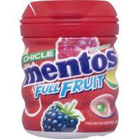 Chicle de frutos rojos sin azúcar MENTOS, bote 60 g