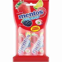 Chicle de frutos rojos sin azúcar MENTOS, pack 2x30 g